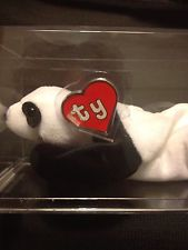 42ffe4e194b An authenticated Ty Peking the panda Beanie Baby sold on eBay on January 5